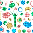 Royalty-Free Stock Vector Image: Nature textile stickers, Isolated On White Background