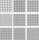 Set of stylish geometrical backgrounds — Stock Vector