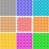 Conjunto de patrones sin fisuras retro elegantes — Vector de stock