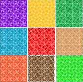 Set ornate seamless pattern background vector — Stock Vector