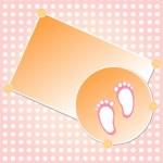 Baby girl arrival announcement card — Stock Vector
