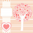 Wedding or Valentine background card vector - Stockvektor