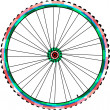 Bicycle wheels isolated on white background. vector — Stock Vector