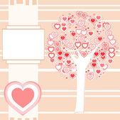 Wedding or Valentine background card vector — Stock Vector