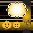 Stock Vector: Halloween background with smile pumpkin banner card vector