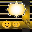 Halloween background with smile pumpkin banner card vector — Stock Vector