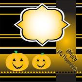 Halloween background with smile pumpkin banner card vector — Stockvektor
