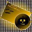 Royalty-Free Stock Vector Image: Halloween background. Grinning pumpkin at night. Vector