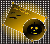 Halloween background. Grinning pumpkin at night. Vector — Stock Vector
