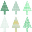 Abstract green christmas tree greeting card blank xmas vector — Stock Vector