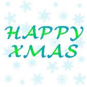 Kaprisli vektör yazı serisi happy holidays christmas — Stok Vektör
