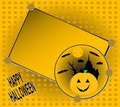 Cadılar bayramı davetiyesi parti tebrik kartı vektör için — Stok Vektör