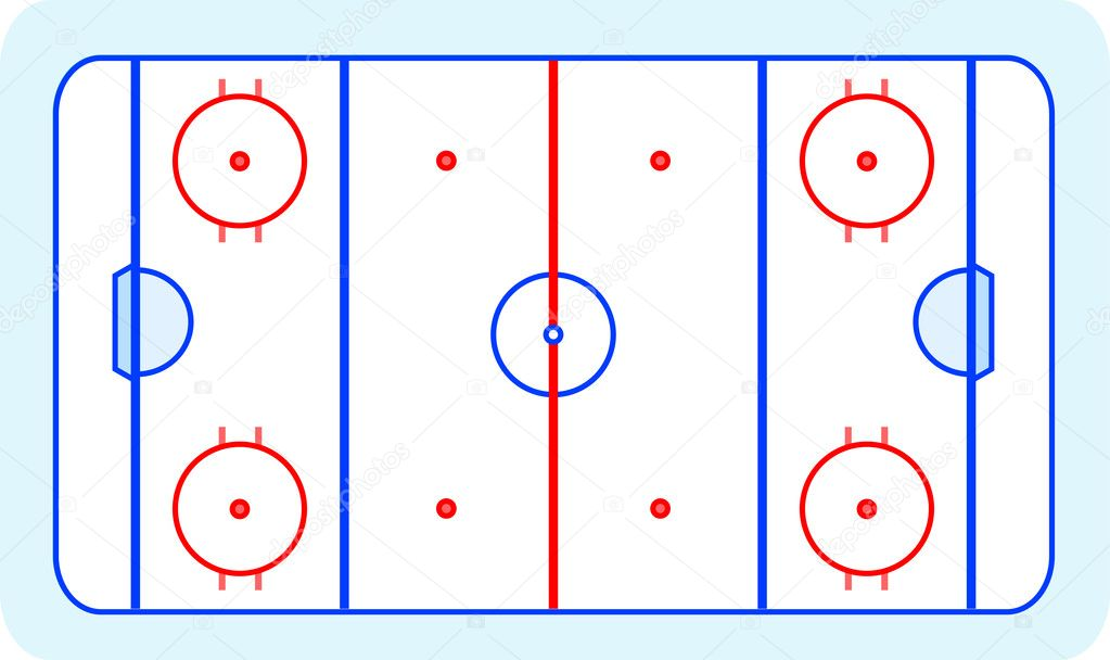 Ice hockey field blue greetings card vector — Stock Vector #7149207