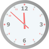 Vector clock isolated on white background — Stock Vector