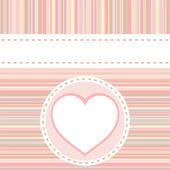 De fundo vector dos namorados amor coração aniversário romântico — Vetor de Stock