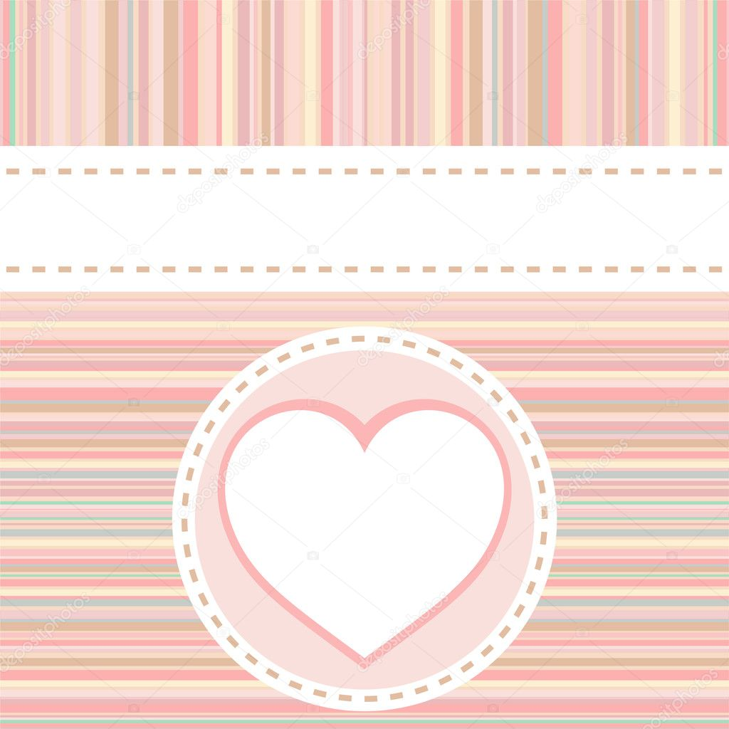 Vector valentine love heart romantic birthday background — Stock Vector #7239545