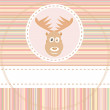 Stock Vector: Cute deer face animal on brown background vector
