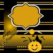 Stock Vector: Halloween background with banner vector