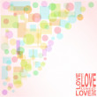 Stock Vector: Vector valentine love heart romantic birthday background