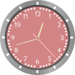 Stock Vector: Wall clock vector isolated on white background