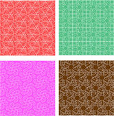 Set of stylish seamless geometrical backgrounds pattern — Stock Vector