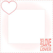 Valentines background with red love heart vector — Vetorial Stock