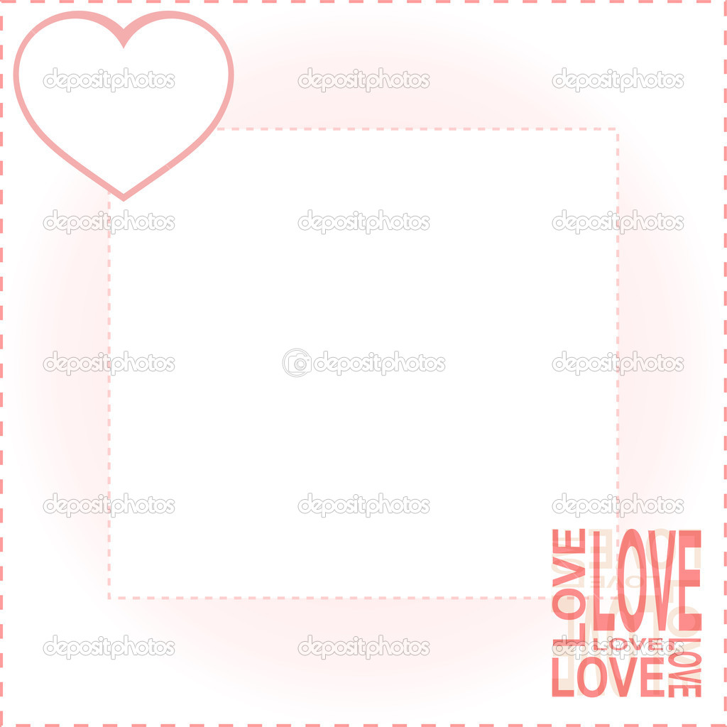 Vector valentines background with red love heart background — Stock Vector #7520161