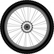 Bike wheel isolated on white — Stock Vector #7828105
