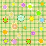 Beautiful Floral background. Flower Border design — Stock Vector