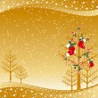 Christmas greeting card — Vector de stock #6771460