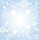 Jul snöflinga på blå bakgrund — Stockvektor