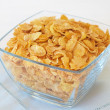 Bowl of breakfast cornflakes — Stock Photo