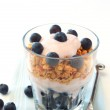 Healthy breakfast with muesli, yogurt and berries — Stock Photo #7729245