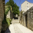 Stock Photo: Alley in Cavtat, Croatia