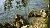 ツァヴタット、クロアチアの岩のビーチ. — ストック写真