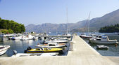 Hitching post of ships in Cavtat's port, Croatia. — Stock Photo