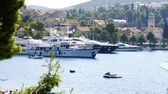 Sight of Cavtat's port, Croatia — Stock Photo
