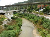 Bridges on the river Llobregat — Stock Photo