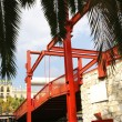 Stok fotoğraf: Red drawbridge