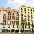 Buildings in the Barceloneta in Barcelona - Stock Photo