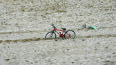 Bicycle in a beach — Photo