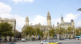 Streets and buildings of Barcelona — Stock Photo