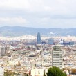 Panoramic of the city of Barcelona - Foto Stock