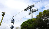 Cable car of Montjuïc's — Stock Photo
