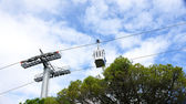 Cabin cable car in Barcelona — Stock Photo
