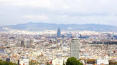 Panoramic of the city of Barcelona — Stock Photo