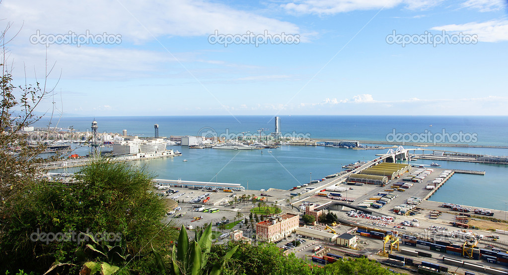 Panoramic of the port of Barcelona — Stock Photo #7827422