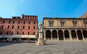 Statue of Dante in Verona — Stock Photo