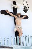 Crucifixed Jesus statue — Stock Photo