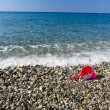 Beach and child bucket — Stock fotografie #7234462